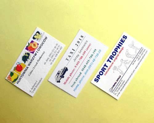 Stempel Service Szczecin Visitenkarten Dienstleistungen
